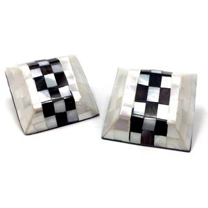 Vintage 1980s Checker Statement Earrings